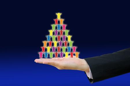 recursos financieros: Empresas responsable al personal de dibujo, concepto presente el trabajo en equipo