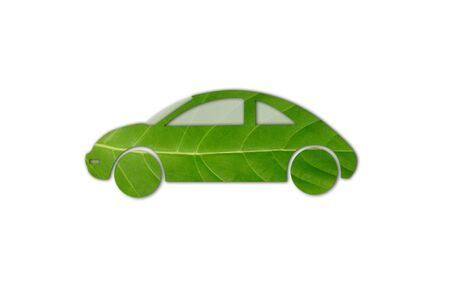 Green car from leaf with shadow Stock Photo - 14894933