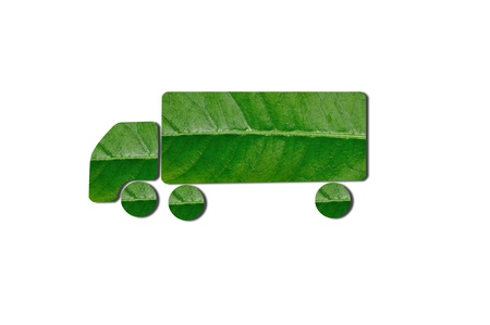 Green Truck for Eco Concept photo
