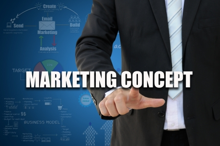 Businessman with marketing concept photo