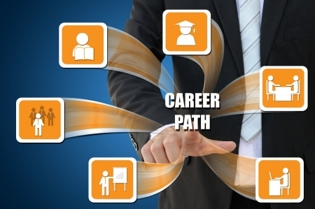 Business icon of career path concept photo