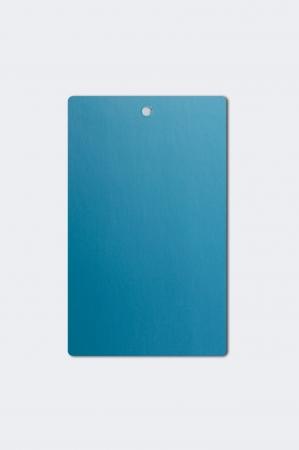 Blue Paper Hang Tag Imagens