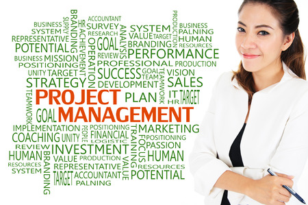 How to reach achievement of project management for business concept photo
