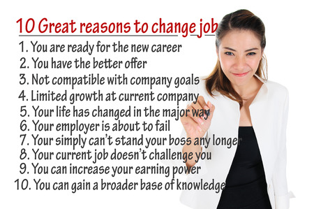 Reason to change job for human resources concept