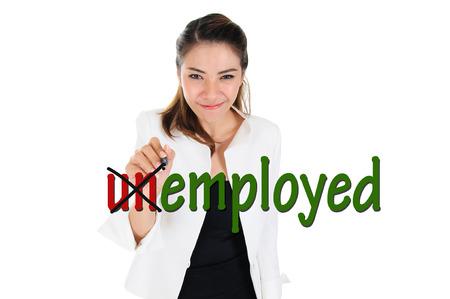 Change word of unemployed to employed