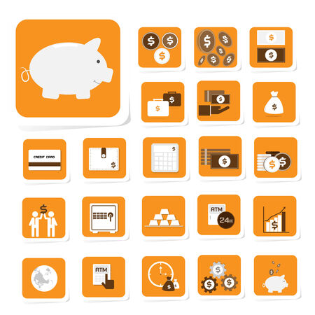 investment concept: Finance and money icon for business and investment concept