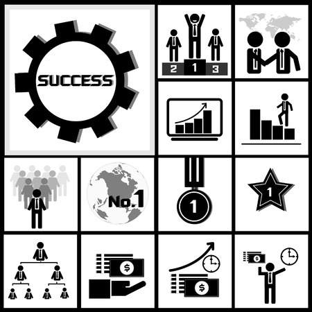 Vector of success icon for business achievement concept Vector