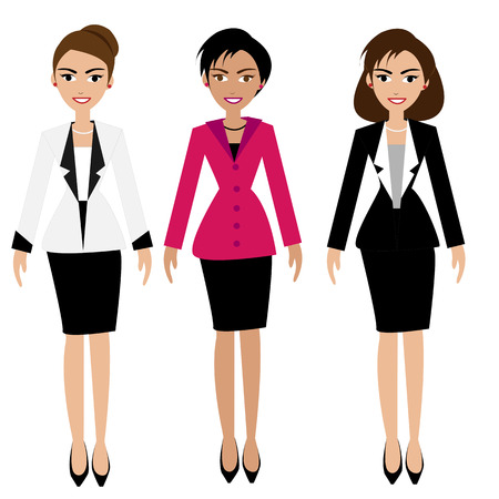 business woman: Vector of business woman set Illustration