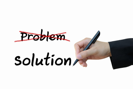 Business solution for Marketing Concept, problem and solution photo