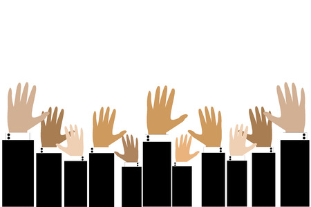 Business hand raise up for opportunity concept Vector