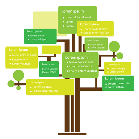 Infographic Design Tree Template For Business And Education