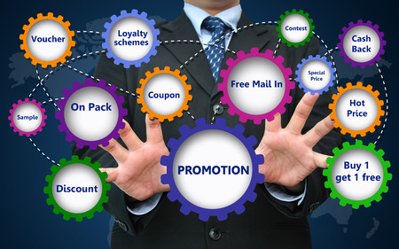bogo: Business promotion for marketing concept Stock Photo