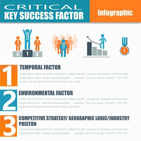 factors: Infographic of critical key success factor for business concept