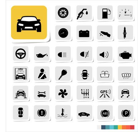 Automotive icon set Vector