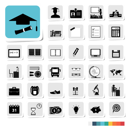 category: Education Icon in Business Category Concept Illustration