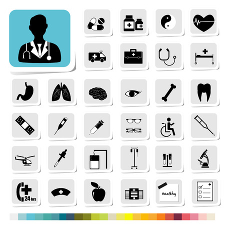 Healthcare and Medical Icon for Business Category Concept Vector