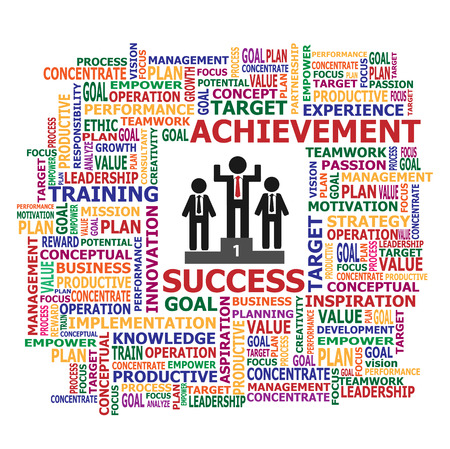 Vector and Illustration of Successful and Achievement, Business Concept
