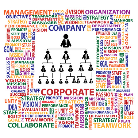 organization design: Organization and corporate structure in company for business concept