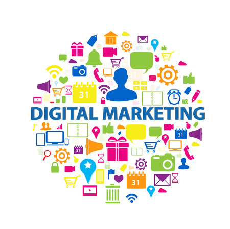 digital marketing: Digital Marketing Concept