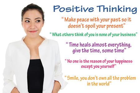 Positive thinking and self improvement logic Stok Fotoğraf