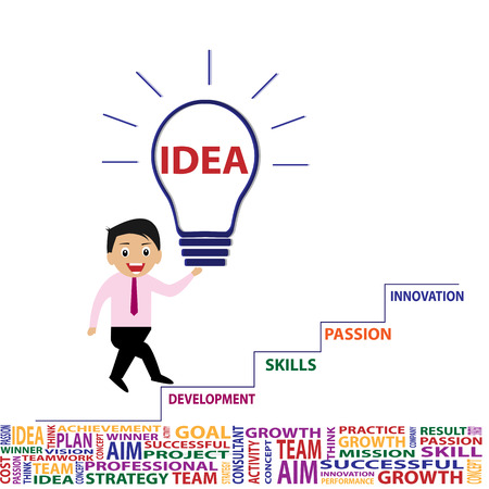 smart goals: Business idea and innovation by vector