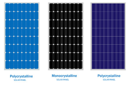 Solar Panel, green energy and renewable concept 일러스트