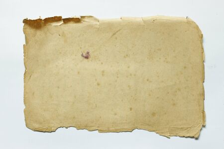 Old paper on white background can be applied in different applications. Any more. Stock Photo - 9922476