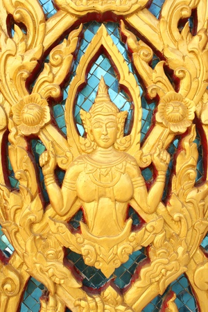 thai art paint golden photo