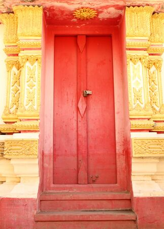 Thai style temple door photo