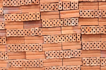 stapled: red stapled bricks