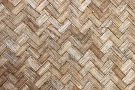 the old bamboo weave texture for background  photo