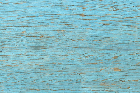 distressed texture: blue wood boards, wooden texture, scratched cracked peeling paint Stock Photo
