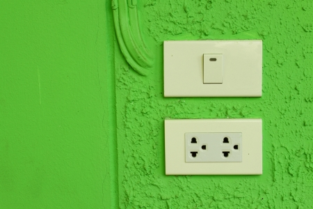 plugins: Light switches and plug-ins  Stock Photo