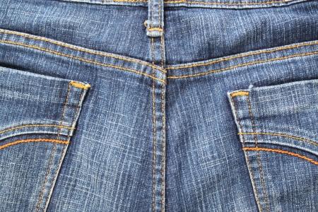 blue jeans pocket photo