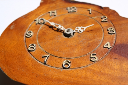 Clock face of wood photo