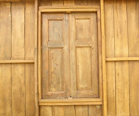 Old wooden house window, Thailand traditional style  photo