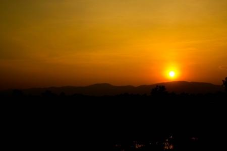 Sunset mountain  Stock Photo - 16331680