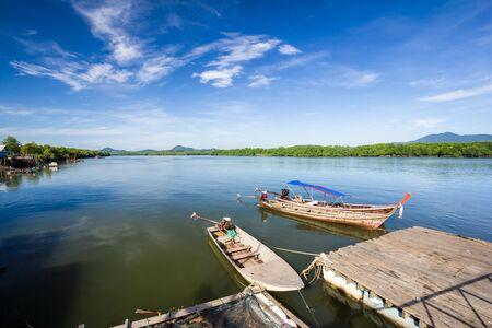 fischerei: Fischerei von Thailand, mit einem kleinen Boot