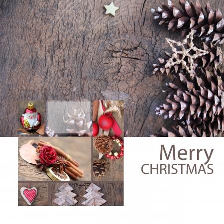 Elegant Christmas Greeting card 写真素材