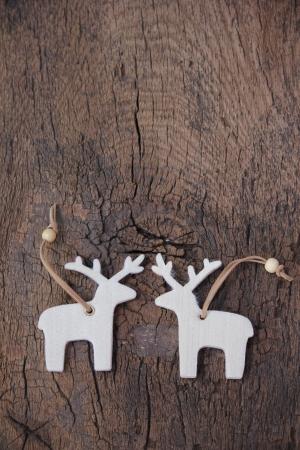 Two loving elks for christmas Imagens