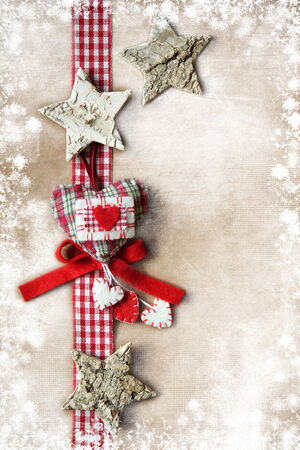 Christmas decoration over vintage background  photo