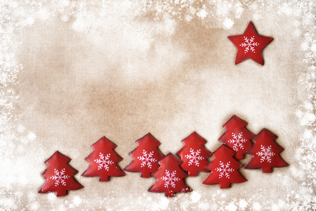 Christmas decoration over vintage background
