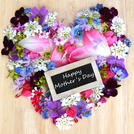 Happy Mothers Day with flowers photo