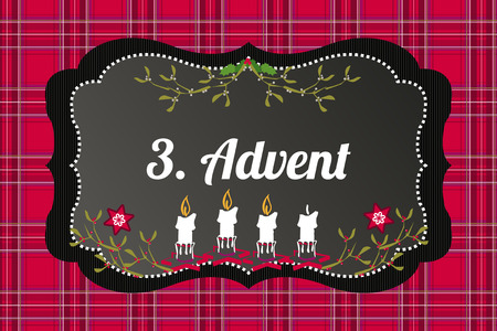 advent candles: 3. Advent