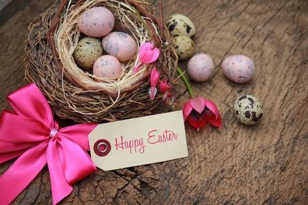huevos de pascua: Feliz Pascua Foto de archivo