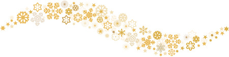 golden ribbons: Snowflakes