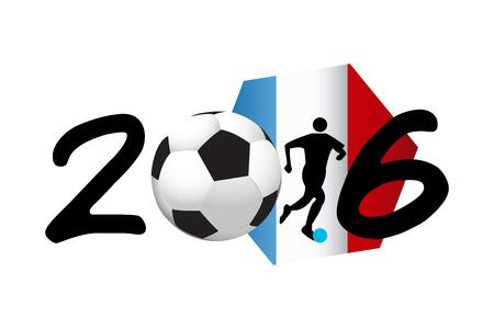 uefa: France soccer symbol 2016