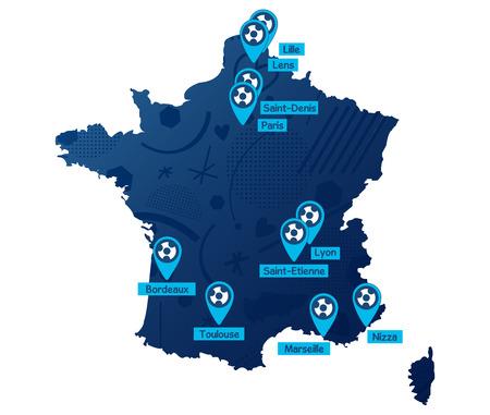 uefa: France soccer map 2016