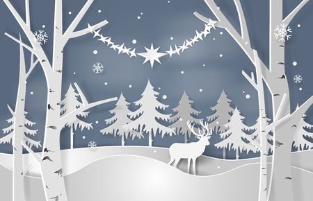 Christmas concept vector illustration.