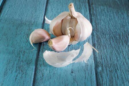 asian flavors: Garlic, Food Ingredient, Preparing Garlic for Food Ingredient Stock Photo